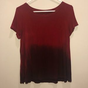 American Eagle   Red Ombré Soft and Sexy Flowy Tee